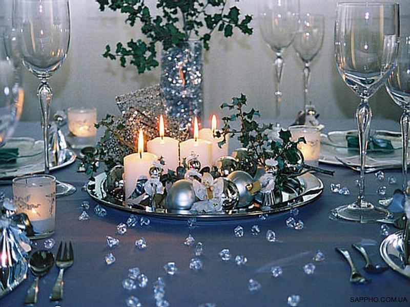 Новогодний стол своими руками фото
